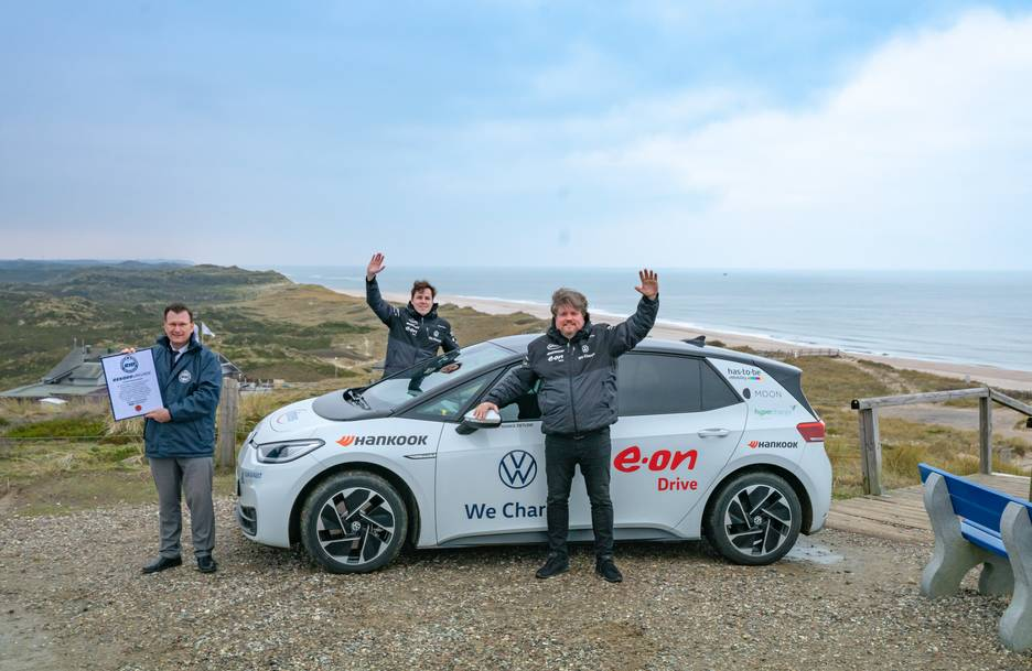 Volkswagen's new ID.3 Electric Car set a new world record on Hankook Winter i*cept evo 3 tyres